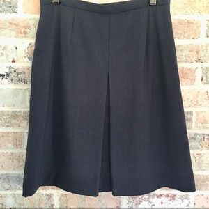Talbots Petites Skirt Navy Blue Wool Fully Lined